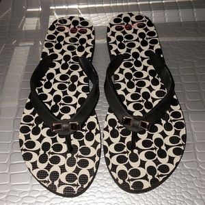 Coach Flip Flops (size 7-8) Great Condition